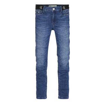 Ruhák Lány Skinny farmerek Calvin Klein Jeans IG0IG00639-1A4 Kék