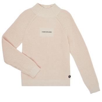 Ruhák Lány Pulóverek Calvin Klein Jeans IG0IG00680-PGB Szürke
