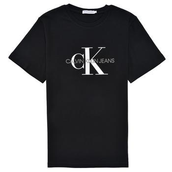 Ruhák Gyerek Rövid ujjú pólók Calvin Klein Jeans MONOGRAM Fekete
