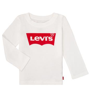 Ruhák Lány Hosszú ujjú pólók Levi's BATWING TEE LS Fehér
