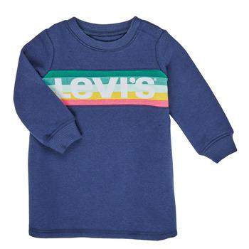 Ruhák Lány Rövid ruhák Levi's SWEATSHIRT DRESS Kék