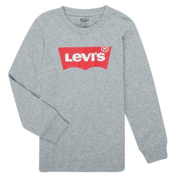 Ruhák Fiú Hosszú ujjú pólók Levi's BATWING TEE LS Szürke