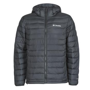 Ruhák Férfi Steppelt kabátok Columbia POWDER LITE HOODED JACKET Fekete