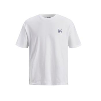 Ruhák Fiú Rövid ujjú pólók Jack & Jones JJAARHUS TEE Fehér