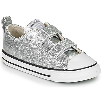 Cipők Lány Rövid szárú edzőcipők Converse CHUCK TAYLOR ALL STAR 2V - COATED GLITTER Ezüst