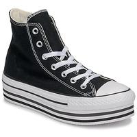 Cipők Női Magas szárú edzőcipők Converse Chuck Taylor All Star Platform Eva Layer Canvas Hi Fekete