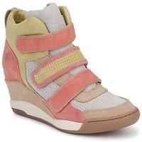 Cipők Női Magas szárú edzőcipők Ash ALEX Korall / Citromsárga / Tópszínű