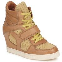 Shoes Női Magas szárú edzőcipők Ash COCA Barna / Citromsárga