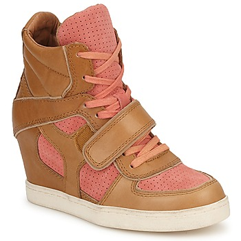 Cipők Női Magas szárú edzőcipők Ash COCA Barna / Korall