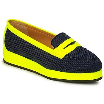 Cipők Női Mokkaszínek MySuelly VALENTINE Fekete  / Citromsárga