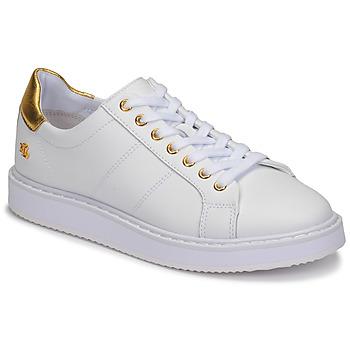 Cipők Női Rövid szárú edzőcipők Lauren Ralph Lauren ANGELINE II Fehér / Arany
