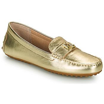 Cipők Női Mokkaszínek Lauren Ralph Lauren BARNSBURY FLATS CASUAL Arany