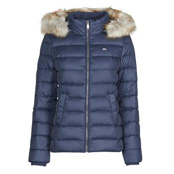 Ruhák Női Steppelt kabátok Tommy Jeans TJW BASIC HOODED DOWN JACKET Tengerész