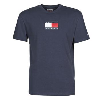Ruhák Férfi Rövid ujjú pólók Tommy Jeans TJM SMALL FLAG TEE Tengerész