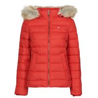 Ruhák Női Steppelt kabátok Tommy Jeans TJW BASIC HOODED DOWN JACKET Piros