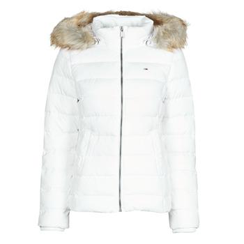 Ruhák Női Steppelt kabátok Tommy Jeans TJW BASIC HOODED DOWN JACKET Fehér