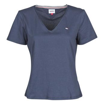 Ruhák Női Rövid ujjú pólók Tommy Jeans TJW SLIM JERSEY V NECK Tengerész