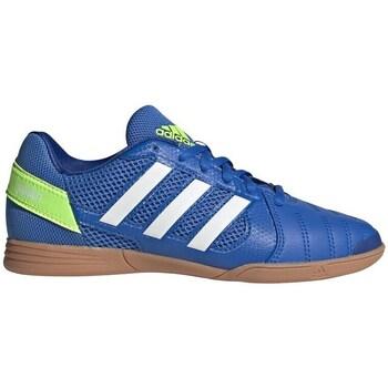 Cipők Gyerek Foci adidas Originals Top Sala Białe,Niebieskie,Żółte