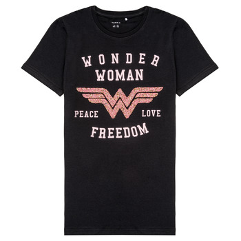 Ruhák Lány Rövid ujjú pólók Name it NKFWONDERWOMEN Fekete