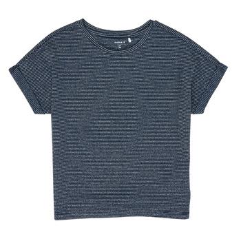 Ruhák Lány Rövid ujjú pólók Name it NKFKYRRA Tengerész