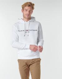 Ruhák Férfi Pulóverek Tommy Hilfiger TOMMY LOGO HOODY Fehér