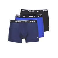 Fehérnemű Férfi Boxerek Nike EVERYDAY COTTON STRETCH Fekete  / Tengerész / Kék