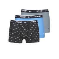 Fehérnemű Férfi Boxerek Nike EVERYDAY COTTON STRETCH Fekete  / Szürke / Kék
