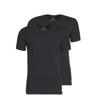 Ruhák Férfi Rövid ujjú pólók Nike EVERYDAY COTTON STRETCH Fekete