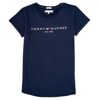 Ruhák Lány Rövid ujjú pólók Tommy Hilfiger KG0KG05242-C87 Tengerész
