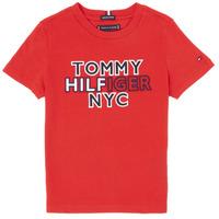 Ruhák Fiú Rövid ujjú pólók Tommy Hilfiger KB0KB05848-XNL Piros