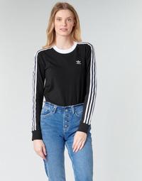 Ruhák Női Hosszú ujjú pólók adidas Originals 3 STR LS Fekete