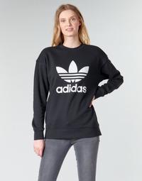 Ruhák Női Pulóverek adidas Originals TRF CREW SWEAT Fekete