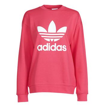 Ruhák Női Pulóverek adidas Originals TRF CREW SWEAT Rózsaszín
