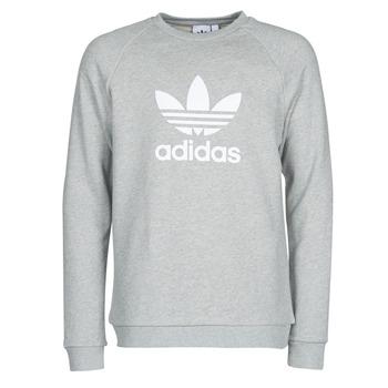 Ruhák Férfi Pulóverek adidas Originals TREFOIL CREW Szürke