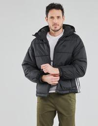 Ruhák Férfi Steppelt kabátok adidas Originals PAD HOODED PUFF Fekete