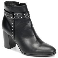 Cipők Női Bokacsizmák Moony Mood NINOU Fekete