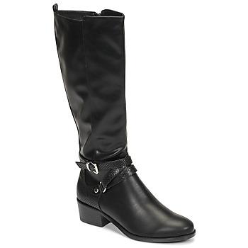 Cipők Női Városi csizmák Moony Mood NELLE Fekete