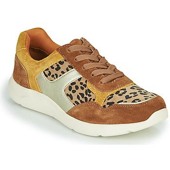Cipők Női Rövid szárú edzőcipők Damart 62328 Bézs / Citromsárga
