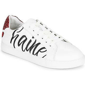 Cipők Női Rövid szárú edzőcipők Bons baisers de Paname SIMONE AMOUR/HAINE Fehér