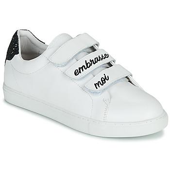 Cipők Női Rövid szárú edzőcipők Bons baisers de Paname EDITH EMBRASSE MOI Fehér