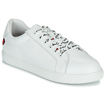 Cipők Női Rövid szárú edzőcipők Bons baisers de Paname SIMONE IN LOVE LACETS Fehér