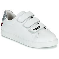 Cipők Női Rövid szárú edzőcipők Bons baisers de Paname EDITH EYES Fehér