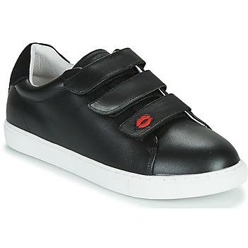 Cipők Női Rövid szárú edzőcipők Bons baisers de Paname EDITH LEGENDE Fekete