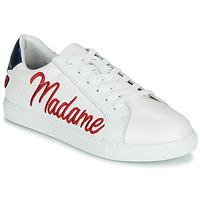 Cipők Női Rövid szárú edzőcipők Bons baisers de Paname SIMONE MADAME MONSIEUR Fehér