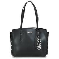 Táskák Női Bevásárló szatyrok / Bevásárló táskák Guess TIA GIRLFRIEND CARRYALL Fekete