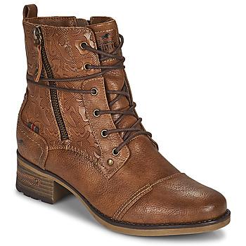 Cipők Női Csizmák Mustang 1229508 Konyak