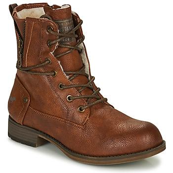 Cipők Női Csizmák Mustang 1139630 Konyak