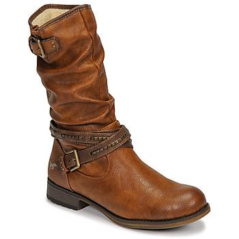 Cipők Női Városi csizmák Mustang 1139624 Konyak