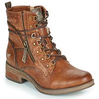 Cipők Női Csizmák Mustang 1293601 Konyak