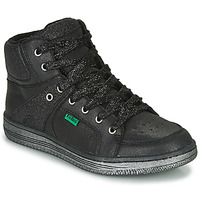Cipők Lány Magas szárú edzőcipők Kickers LOWELL Fekete
